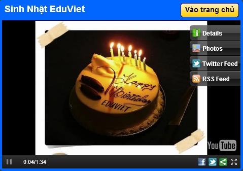 Sinh nhật EduViet - Đào tạo nhân sự, nghề nhân sự,