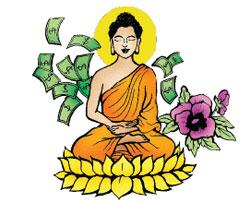Tiền, Ðức Phật và hoa Oải Hương